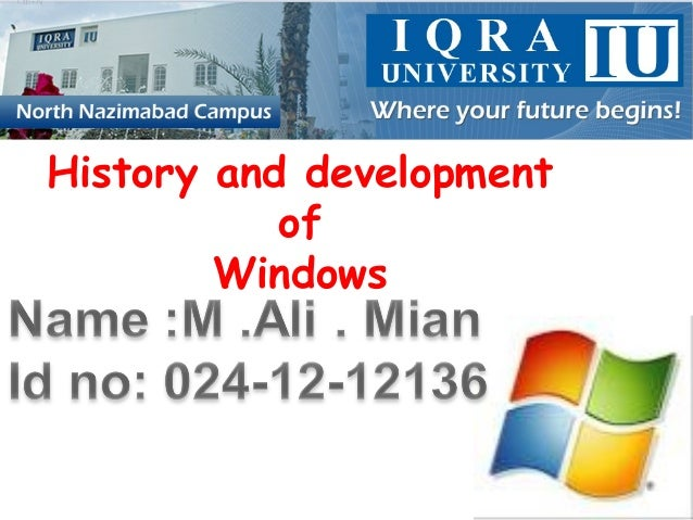 History and development of Windows