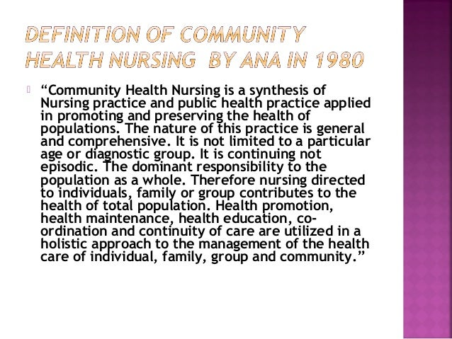 evolution of community and public health nursing worksheet Primary health care in urban communities beverly mcelmurry, cynthia tyska, randy spreen parker, with the assistance of todd hissong ©1999.