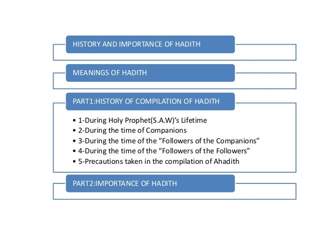 History and Importance of Ahadith Slide 2