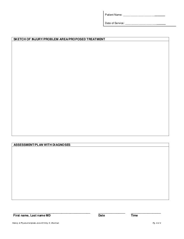 physical form template