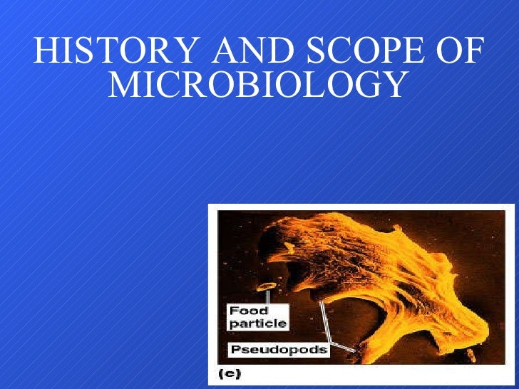 HISTORY AND SCOPE OF MICROBIOLOGY