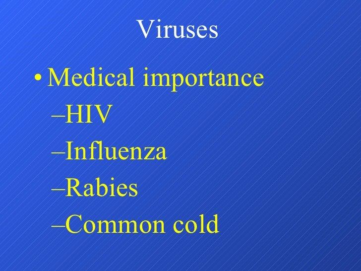 Viruses <ul><li>Medical importance </li></ul><ul><ul><li>HIV </li></ul></ul><ul><ul><li>Influenza </li></ul></ul><ul><ul><...