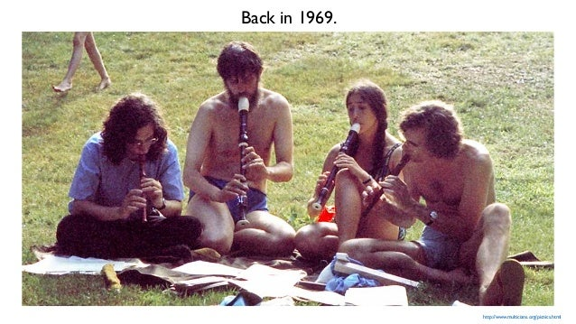http://www.multicians.org/picnics.html Back in 1969.