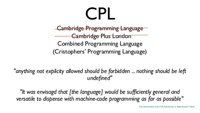 """""""Christopher Strachey and the Cambridge CPL Compiler"""", Martin Richards Martin Richards started as a research student in 19..."""