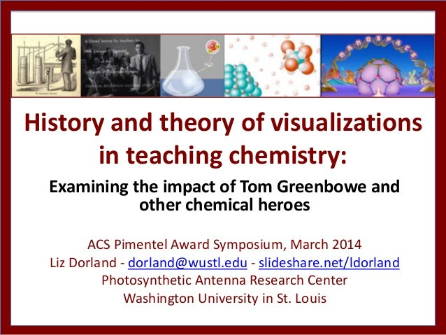 History and theory of visualizations in teaching chemistry: Examining the impact of Tom Greenbowe and other chemical heroe...