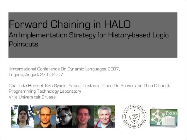 Forward Chaining in HALO An Implementation Strategy for History-based Logic Pointcuts @International Conference On Dynamic...