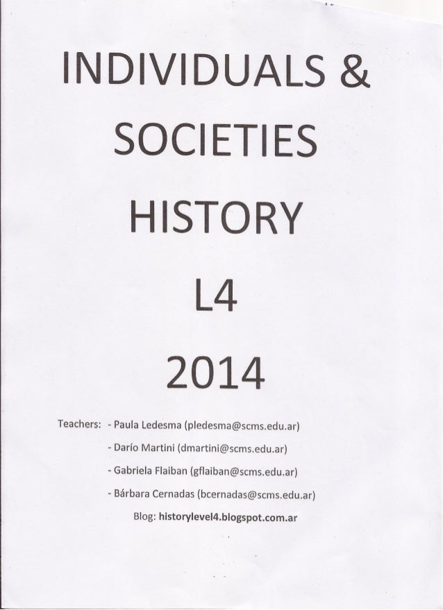 History booklet l4 2014