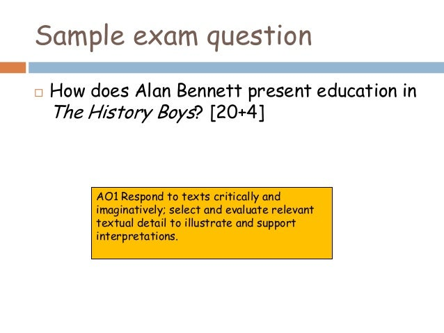 the major themes in the history boys a play by alan bennett Search the world's most comprehensive index of full-text books my library.
