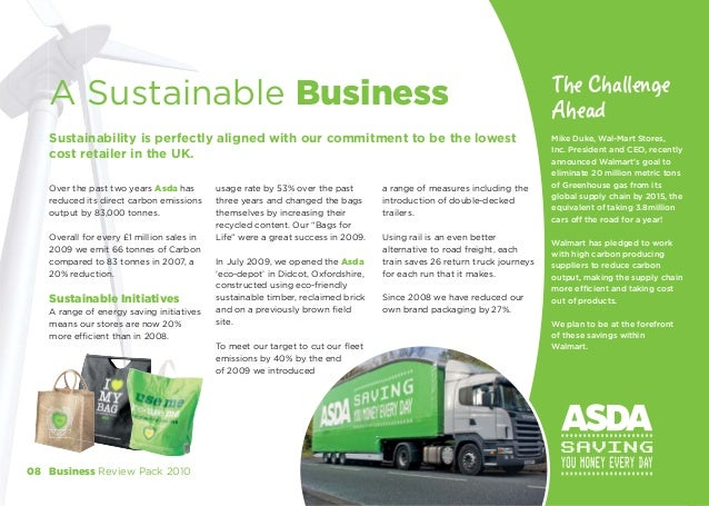 business environment of asda In the supermarket hierarchy after asda and sainsbury's there have been many changes in asda's business environment over the last 65 years.