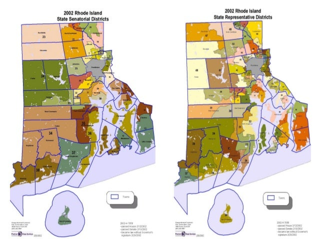 Rhode Island Senate District Map