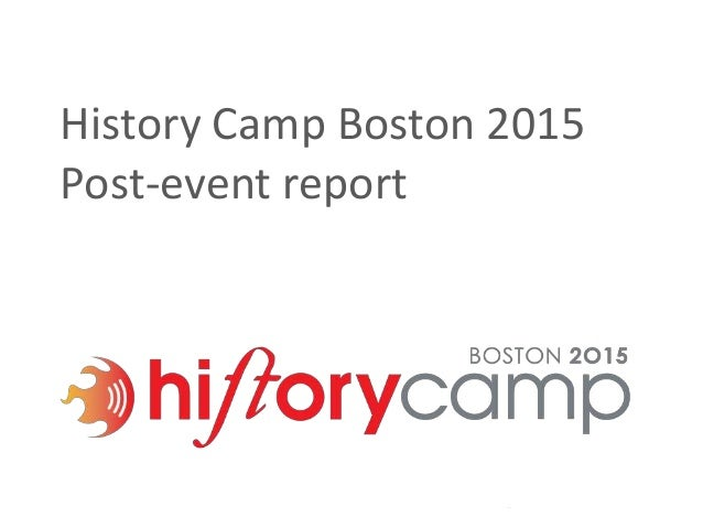 History Camp Boston 2015 Post-event report