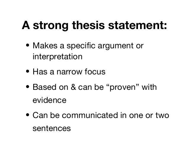"thesis statement pointers A thesis statement 1: watch this brief video for some very good pointers in the beginning, a thesis is described as ""one or two sentences."