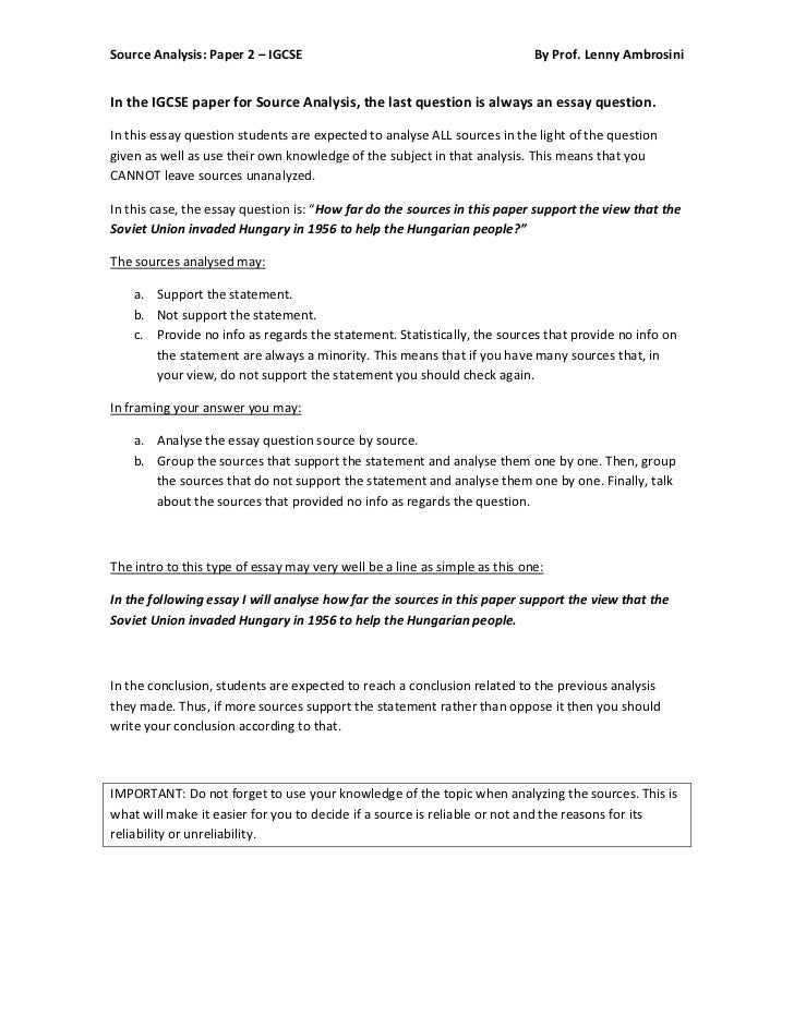 document sources essay Instructions for primary source analysis essay: due in class 3/7  government  documents, posters, pamphlets, photographs, advertisements, paintings, films,.