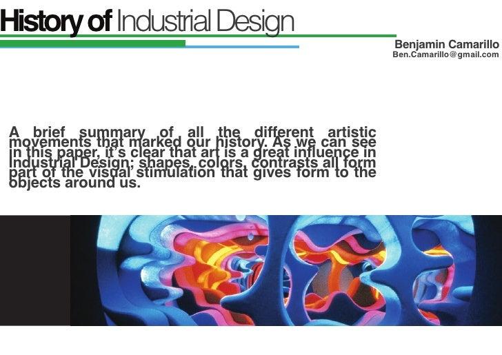 History of Industrial Design                                                             Benjamin Camarillo               ...