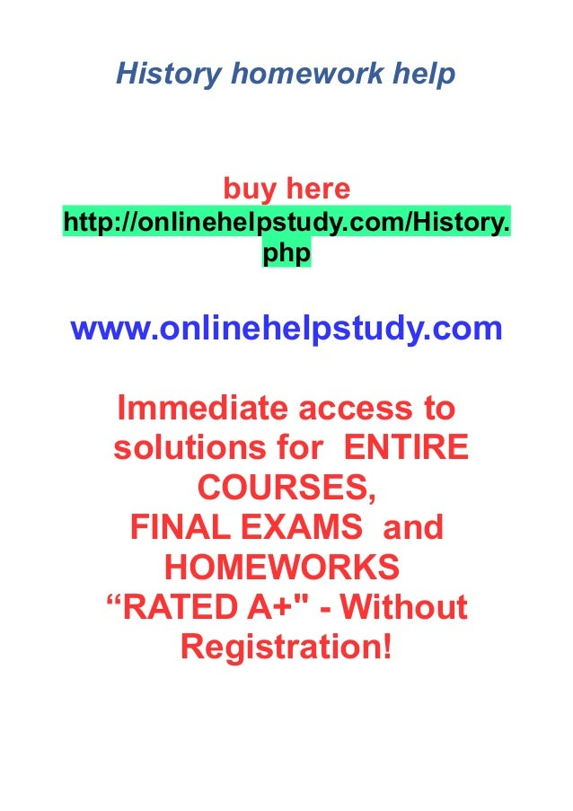 Modern world history homework help