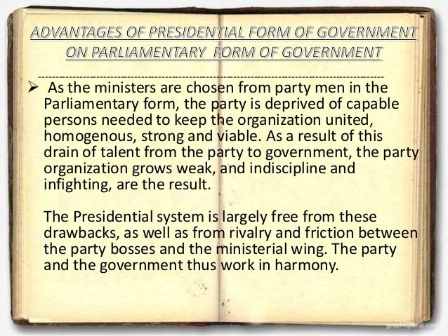 Comparision on PARLIAMENTARY and PRESIDENTIAL form of government with…