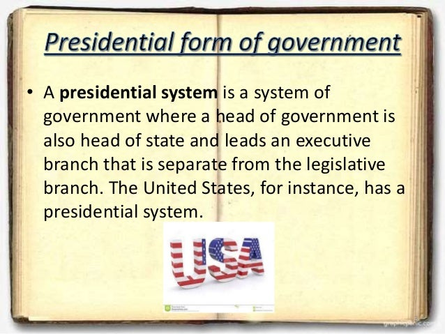 presidential form government