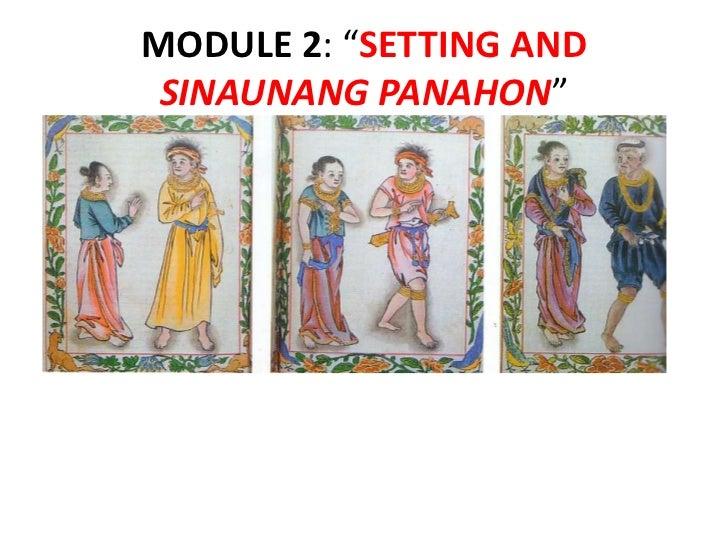 """MODULE 2: """"SETTING AND SINAUNANG PANAHON"""""""