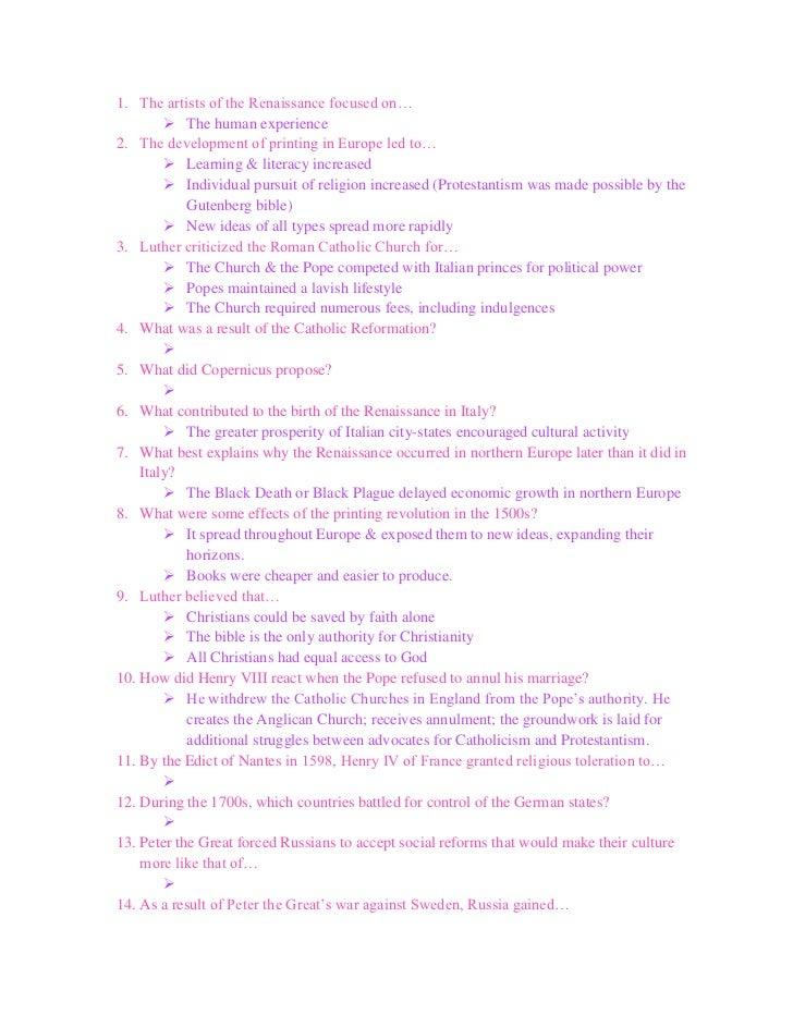 history mt study guide answers rh slideshare net study guide answers for rules study guide answers 1984