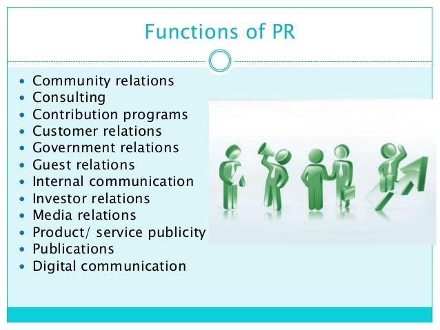 functions of public relations essay From corporate communication or public relations functions in their respective organizations the role of communication in investor relations practices 67.