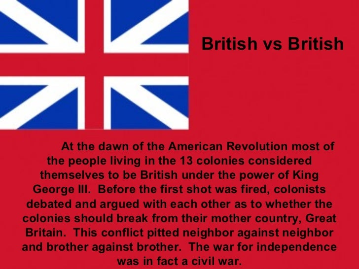 British vs Colonists