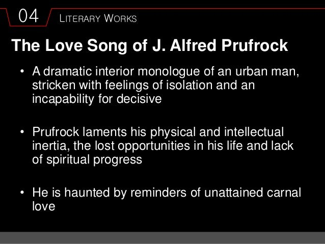 A literary analysis of the love song of j alfred prufrock