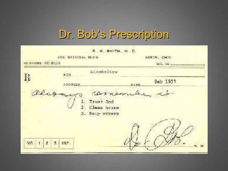 the origins of alcoholics anonymous a story about bill and dr bob Henrietta seiberling is the lady who introduced bill wilson to dr bob smith so i called her on the telephone and asked her to tell me about the origins of alcoholics anonymous so that i could then i looked at bill's story in alcoholics anonymous where bill had said that all his.