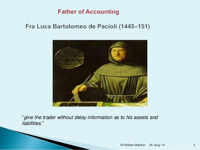 The history of accounting