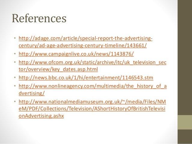 History of advertisements main task