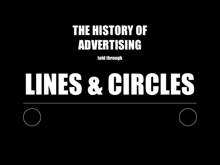 THE HISTORY OF     ADVERTISING        told throughLINES & CIRCLES