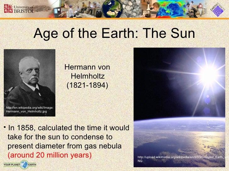 age of the earth pdf