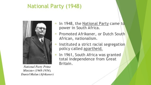 a history of the apartheid system in south africa Apartheid, the afrikaans name given by the white-ruled south africa's nationalist  party in 1948 to the country's harsh, institutionalized system of racial.
