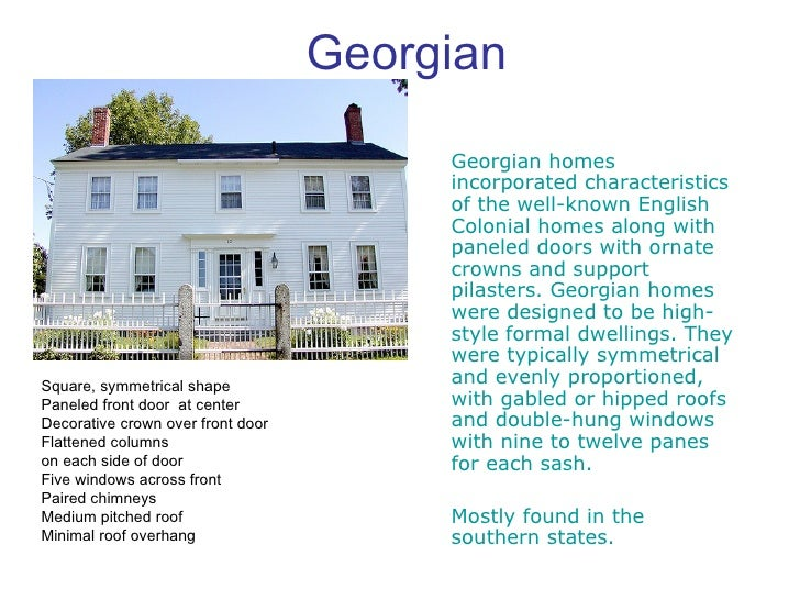 Georgian House Styles Characteristics House Style