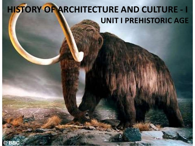 HISTORY OF ARCHITECTURE AND CULTURE - I UNIT I PREHISTORIC AGE