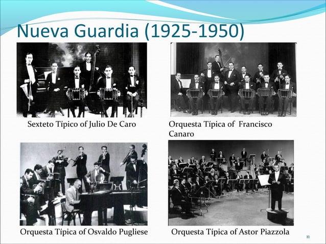 Nueva Guardia (1925-1950)  Sexteto Típico of Julio De Caro  Orquesta Típica of Osvaldo Pugliese  Orquesta Típica of Franci...