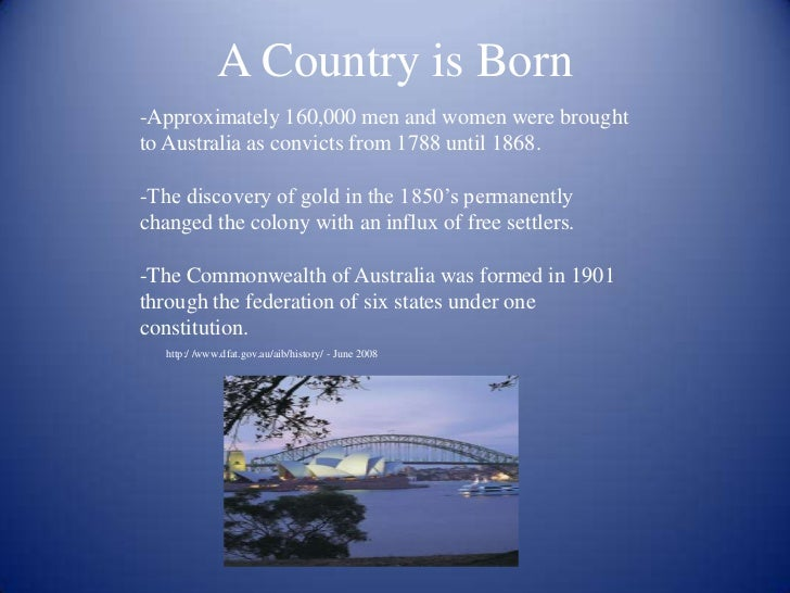 a history of the australian federation at the start of twentieth century 1 history sample unit stage 3 australia as a nation duration: two terms (20 weeks) unit description this topic moves from colonial australia to the development of australia as a nation, particularly after 1901.