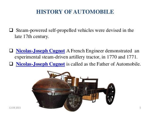 the history of the automobiles since 1770 Concise history 1900 to 1919  the fashion conscious woman began to seek pretty manteaux automobiles or car coats for the autumn and  fashion since 1900.