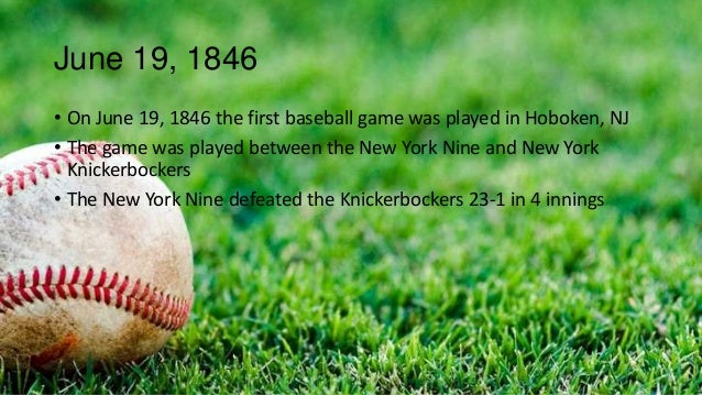 the inception and history of baseball in america Major league baseball season has officially kicked off baseball is america's  game it is steeped in history, and baseball fans are among the.