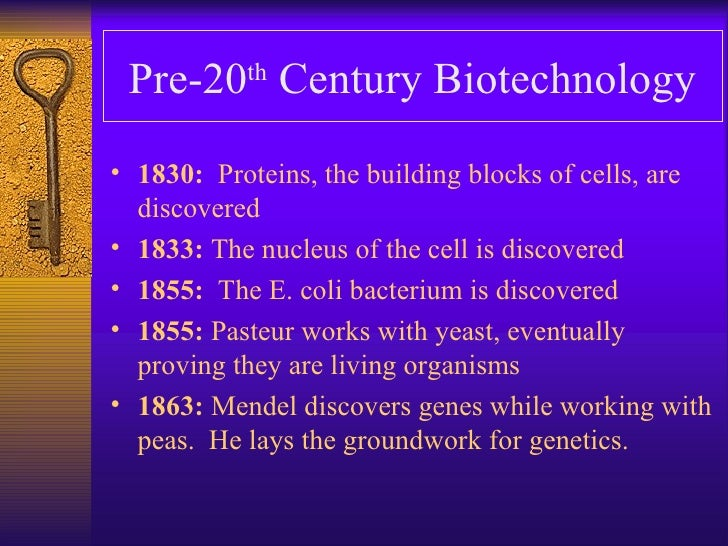a history of biotechnology