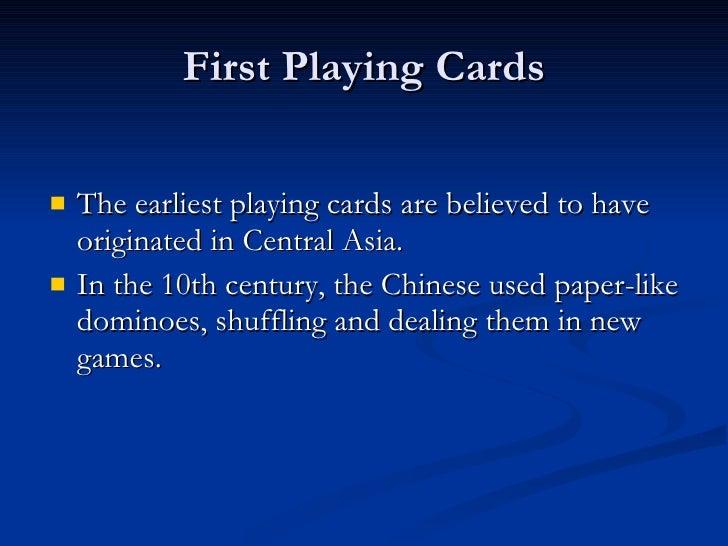 History Of Card Games Slide 2