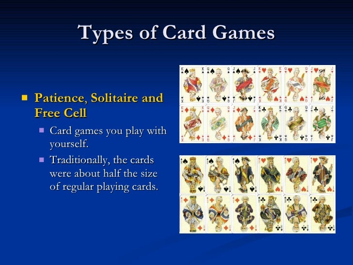 types of card games