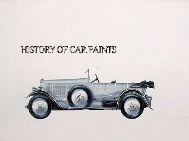 Earlier then 1923 the purpose of car paint was to protect the body of a car from rust and corrosion so the oxidization of ...