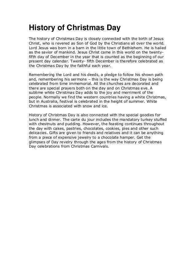 The History Of Christmas.History Of Christmas Day