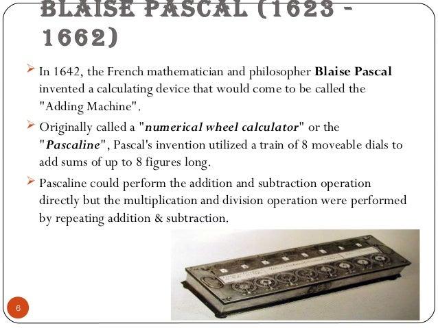 Pascal's calculator