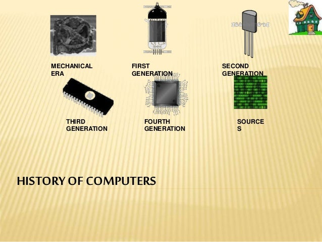 HISTORYOF COMPUTERS MECHANICAL ERA FIRST GENERATION SECOND GENERATION THIRD GENERATION FOURTH GENERATION SOURCE S
