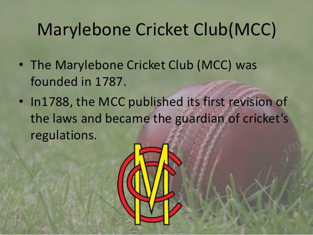 History of cricket by 9-c