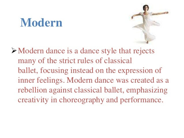 essays modern dance The latest dance craze has become so popular that it now dictates the rhythm of hip-life music (which is a contemporary genre of music in ghana which fuses the traditional hi-life music with the modern hip-hop music).