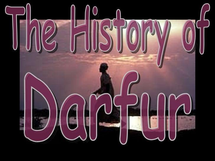 The History of Darfur