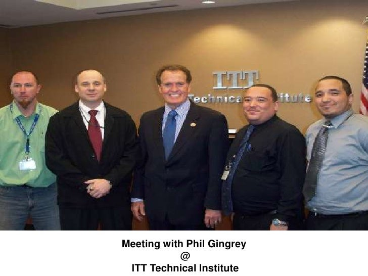 Meeting with Phil Gingrey @ ITT Technical Institute <br />