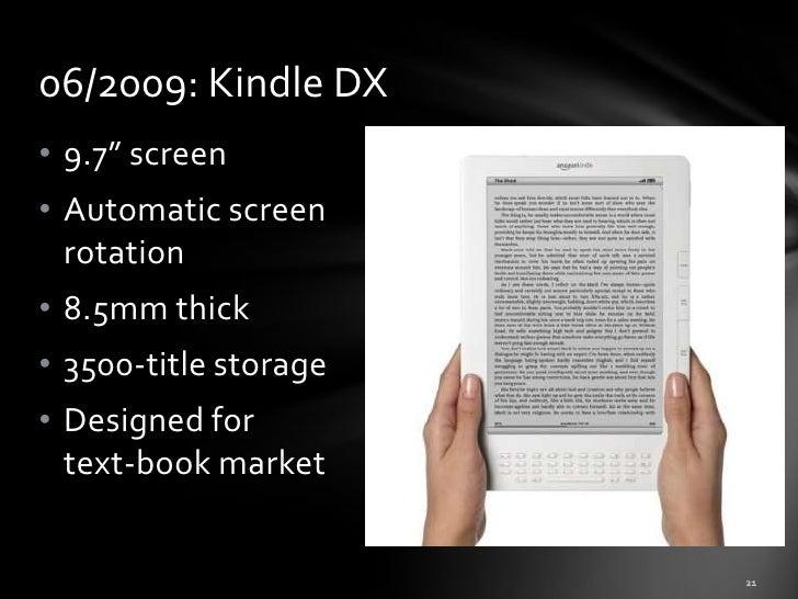 History of e books & ereaders